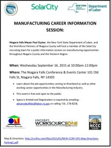 Icon of Niagara Manufacturing Career Information Session
