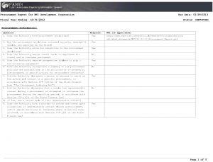 Icon of 2012 NFC Procurement Report