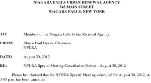 Icon of URA Special Meeting Cancellation 8 30 2012