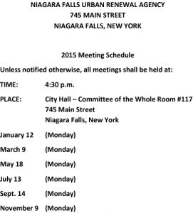 Icon of URA Meeting Schedule 2015