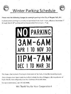 Icon of Overnight Parking Dec 1 - March 31
