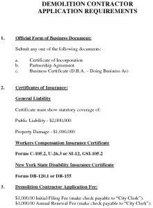 Icon of Demolition Contractor Requirements