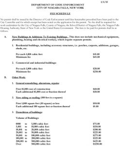Icon of Permit Fee Schedule