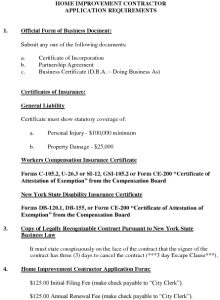 Icon of Home Improvement Contractors Registration Requirements