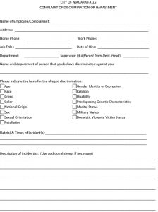 Icon of CITY OF NIAGARA FALLS Complaint Form