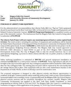 Icon of Liberty Park Playground Council Agenda Item EQUIPMENT 1 31 2018