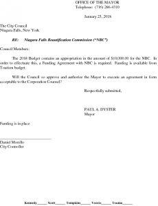 Icon of Niagara Falls Beautification Commission - NBC - Funding Agreement