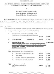 Icon of Amend Chapter 502 Ordinance Relative To Towing  - Fee Schedule