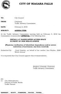 Icon of Council Agenda FEB Handicap - 3008 Welch Ave#10