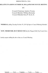 Icon of Resolution - Adding 10-30-18 As Council Meeting#12