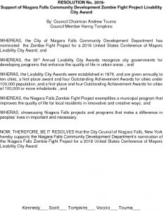 Icon of Zombie Fight Project Livability City Award Council Resolution#14