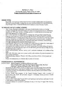 Icon of Barbara Skye Resume#10A