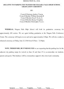 Icon of Resolution- NFHS Parking Fee Waiver #17
