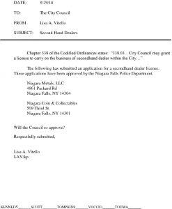 Icon of #17 Second Hand Dealer Agenda Letter Niagara Metals Doc