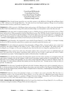 Icon of #13 Resolution Honoring GEORGE OPTICAL CO.