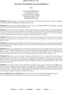 Icon of #16 Resolution Honoring Niagara Barber Co.