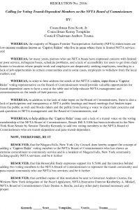 Icon of #13 NFTA Commissioner Transit User Resolution