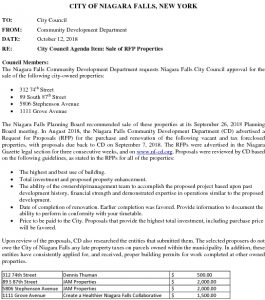 Icon of #5  2018-10-17 Council Meeting - CD - Sale Of RFP Properties - Submission