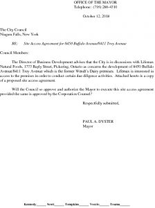 Icon of #12  Site Access Agreement For 8450 Buffalo Ave - Lifemax Natural Foods
