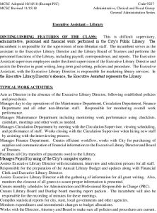 Icon of Executive Assistant - Library Job Spec
