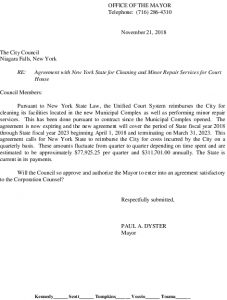 Icon of #9  Agreement With NYS For Cleaning Court House - Unified Court System