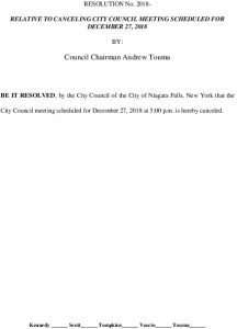 Icon of #14 Resolution - Cancel City Council Meeting On December 27