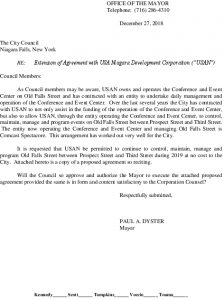 Icon of #7 USAN Agreement - Control And Manage Old Falls Street