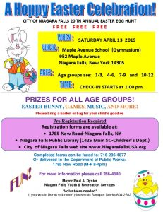 Icon of City Of Niagara Falls 20th Annual Easter Egg Hunt 4 13 19