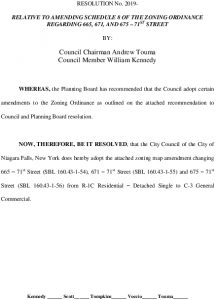 Icon of #11 Amend Zoning - 71st Street Properties - Resolution