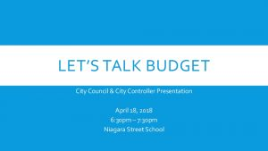 Icon of Let's Talk Budget Presentation - 04.18.18