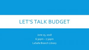Icon of Let's Talk Budget Presentation - 06.25.18