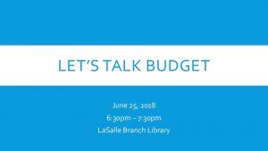 Icon of Let's Talk Budget Presentation - 06.25.18