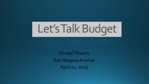 Icon of Lets Talk Budget Presentation - 04.10.19