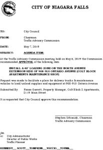 Icon of #8 Council Agenda MAY40' Loading Zone - 908-910 Ontario Ave