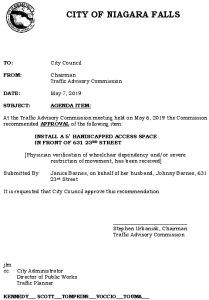 Icon of #12 Council Agenda MAY Handicap - 631 23rd Street