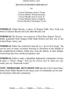 Icon of #6 RELATIVE TO HONORING EDDIE BRYANT