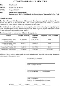 Icon of #11.2019-09-04 Council Mtg - CD - Re Dog Park Funding - SUBMISSION