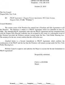 Icon of #4.901 Cedar Avenue - 2nd Amendment To PILOT Agreement
