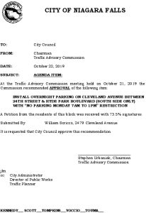 Icon of #12 Council Agenda OCT Overnight Parking - Cleveland Ave (24th StHyde Park Blvd)