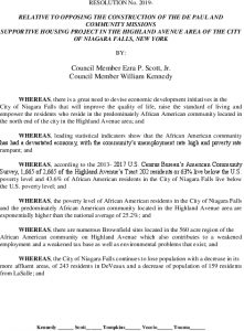 Icon of #16 Resolution - Oppose Construction Of Housing Project On Highland Ave Docx