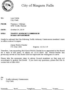 Icon of #13 Re-appointment Letter - Alysia Welch-Chester 10242019