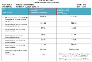 Icon of #5a Purchase Of Concrete BID #2019-26 OFFICIAL Tally Sheet