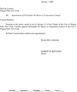 Icon of #3 Corporation Counsel - Appointment