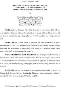 Icon of #7 Tourism Advisory Board - Appointment Of City Representative