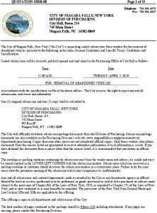 Icon of REMOVAL OF ABANDONED VEHICLES RFQ# 2020-08