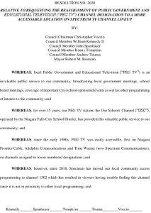 Icon of #7 Resolution - Public Access Channel PEGTV Location