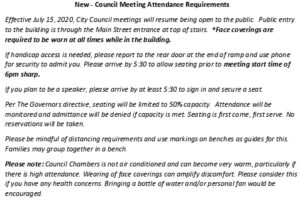 Icon of New - Council Meeting Attendance Requirements