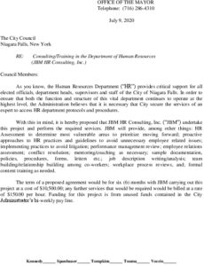 Icon of #9 Mayor HR Consultant Letter