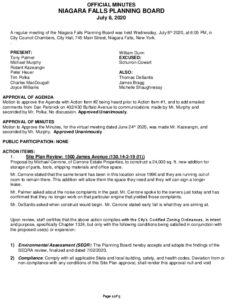 Icon of Planning Board Minutes 7/8/2020