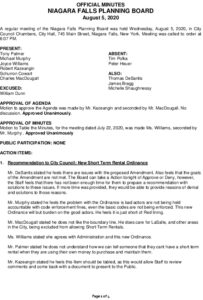 Icon of Planning Board Minutes 8/5/2020